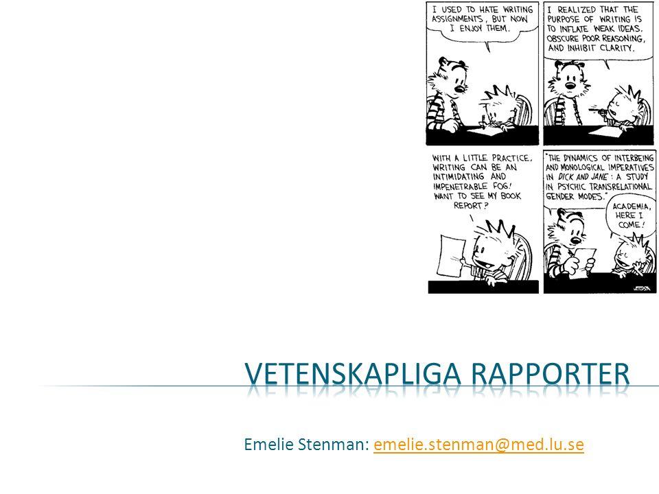 Emelie Stenman: emelie.stenman@med.lu.seemelie.stenman@med.lu.se