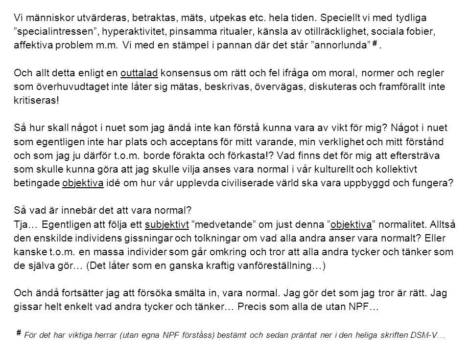 Håkans bok Jag och mina diagnoser Cura förlag 2007