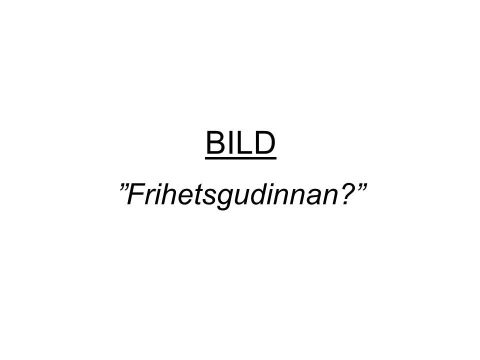 "BILD ""Frihetsgudinnan?"""