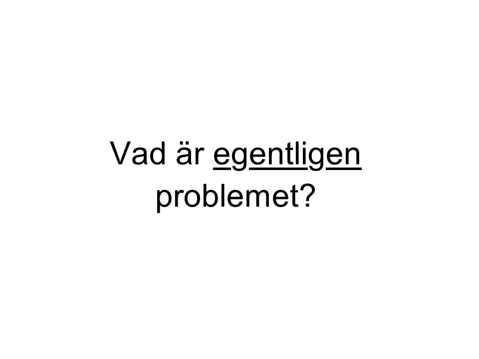 Vad är egentligen problemet?