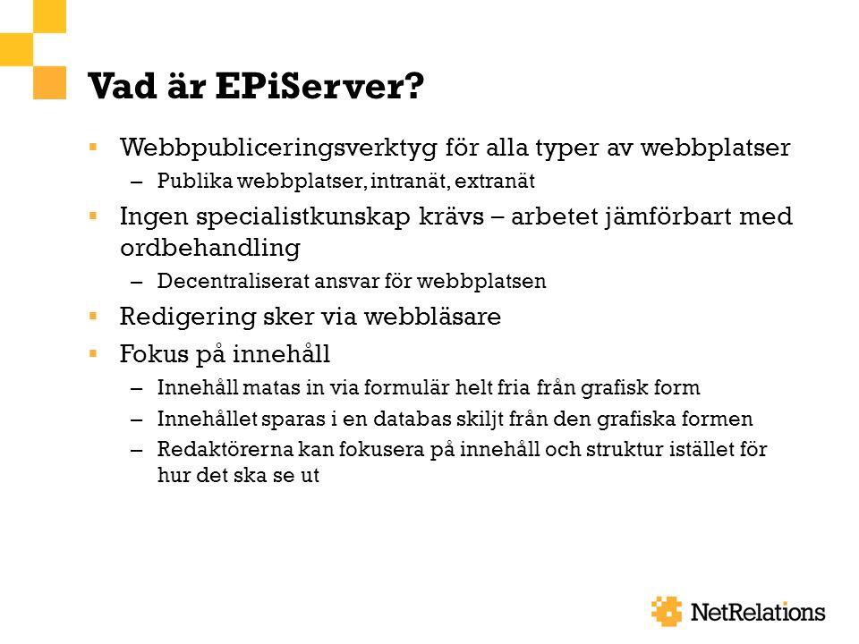Vad är EPiServer.