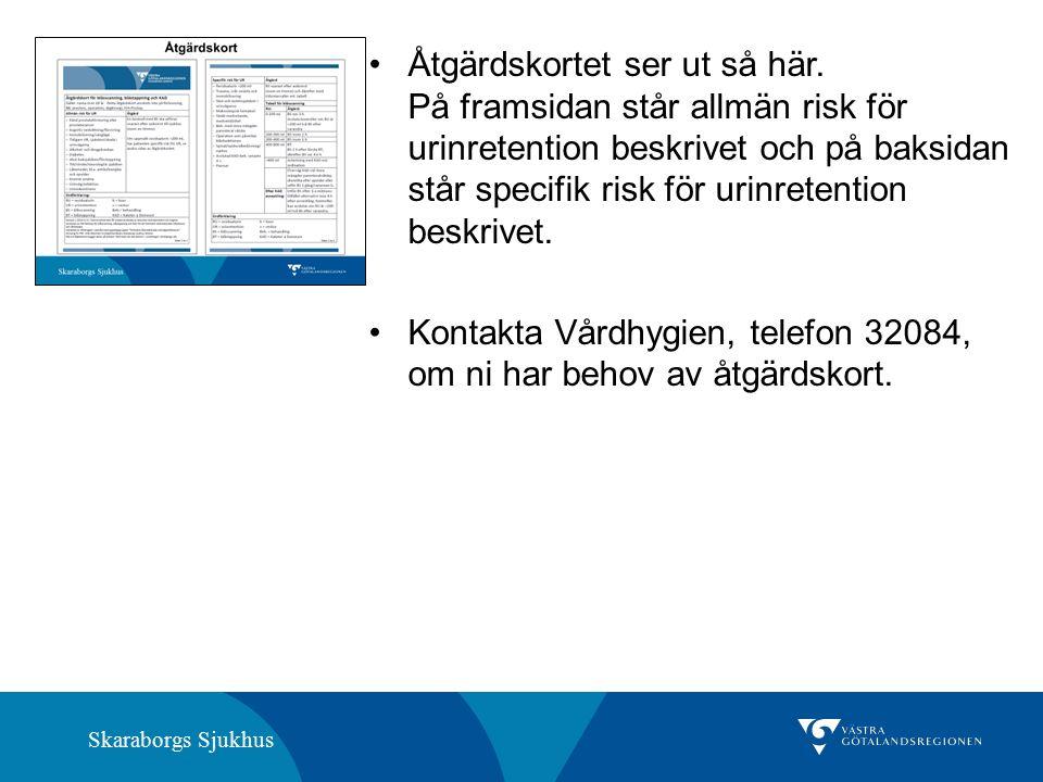Skaraborgs Sjukhus Åtgärdskortet ser ut så här.