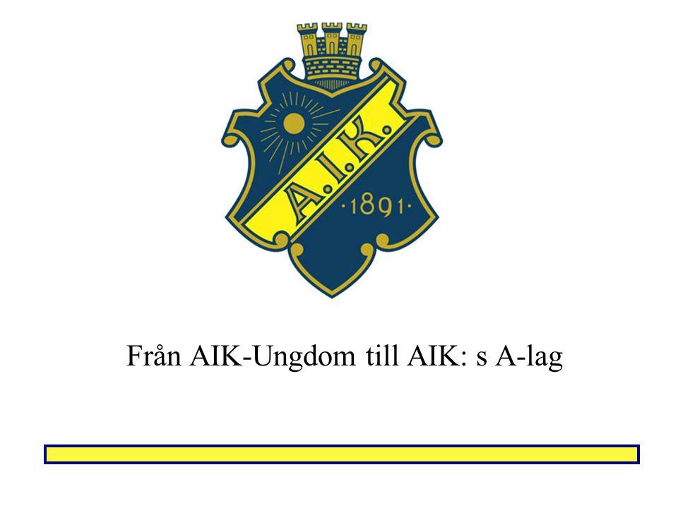AIK: s A-lag Vad innebär det att representera AIK A.