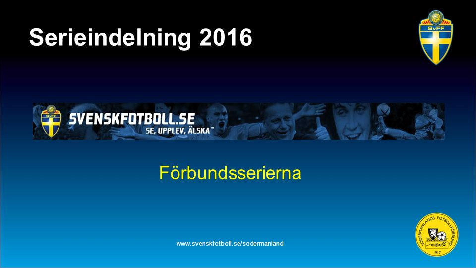Damlag i förbundsserie www.svenskfotboll.se/sodermanland Eskilstuna United DFF Damallsvenskan IFK Nyköping Div.