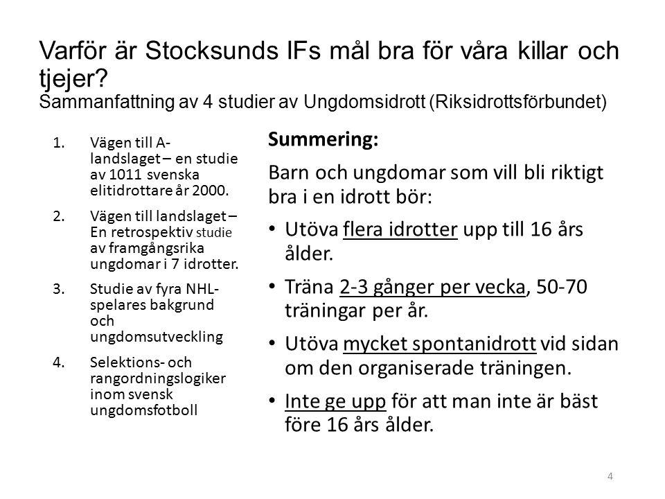 Varför är Stocksunds IFs mål bra för våra killar och tjejer.