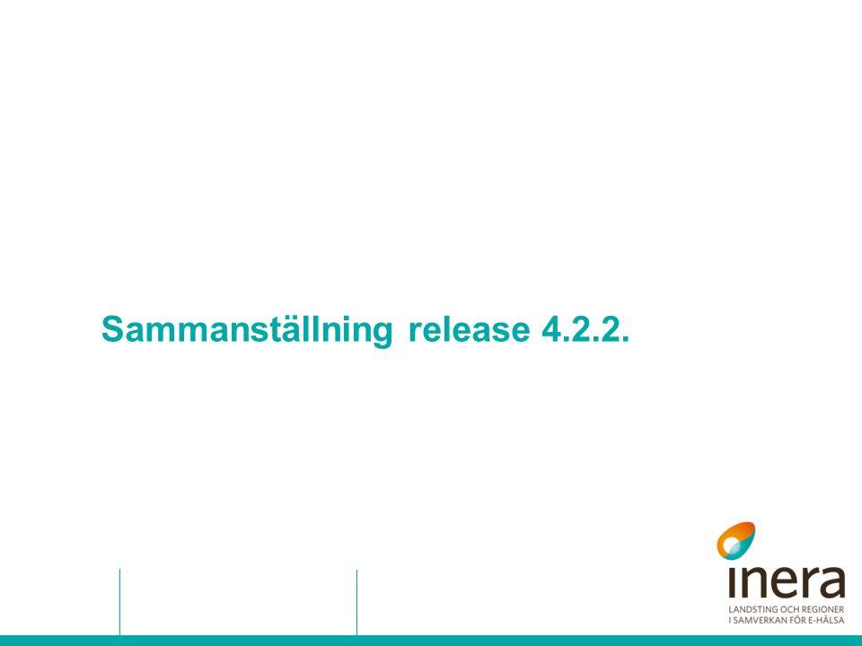 Sammanställning release 4.2.2.