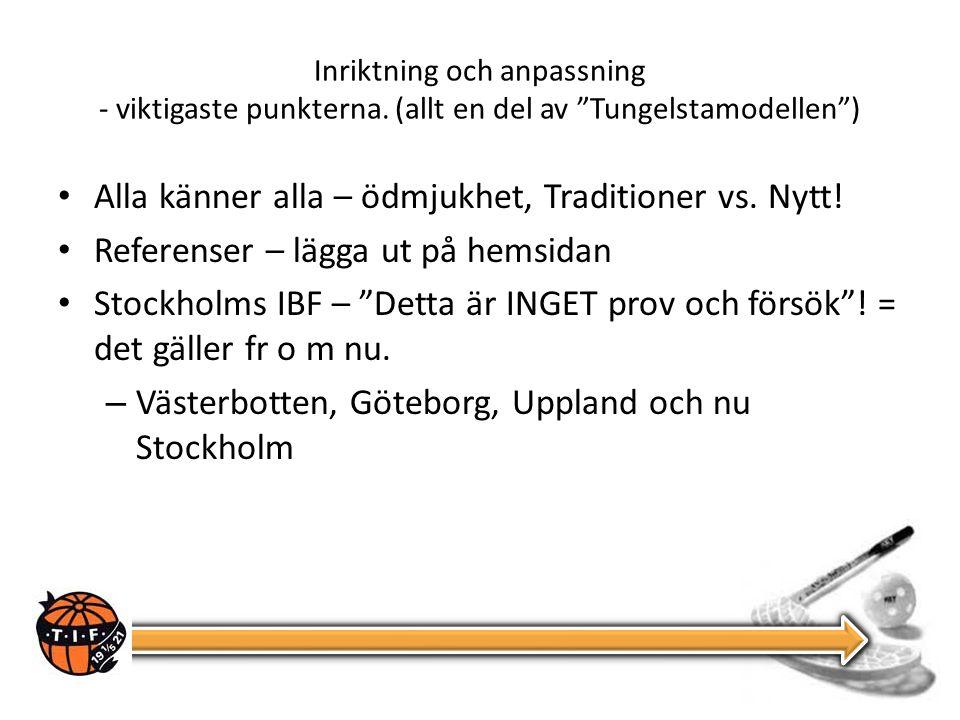 Inriktning och anpassning - viktigaste punkterna.