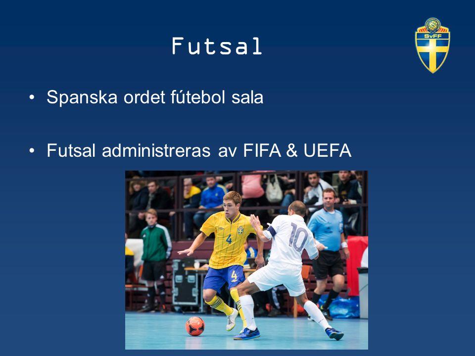 Futsal utvecklar spelare Futsal behåller fler inom idrotten Futsal attraherar en ny målgrupp Sociala projekt Klimatet 10 spelare för att starta ett lag en spelare är 20% av laget Snabbt spel attraherar publik och media Säkert och låg skaderisk