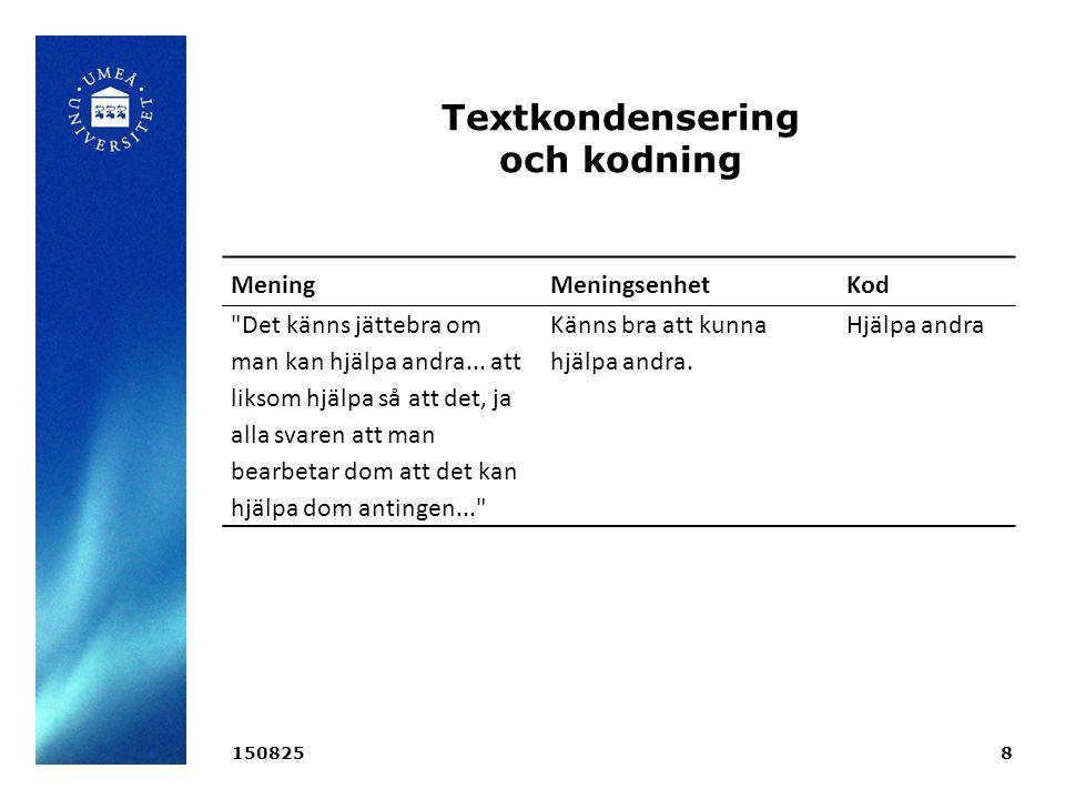 Informationsbrev - metod Informationsbrev från 32 av Sveriges 56 kvinnokliniker samlades in.