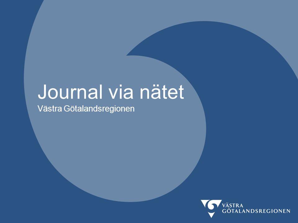 Journal via nätet Västra Götalandsregionen
