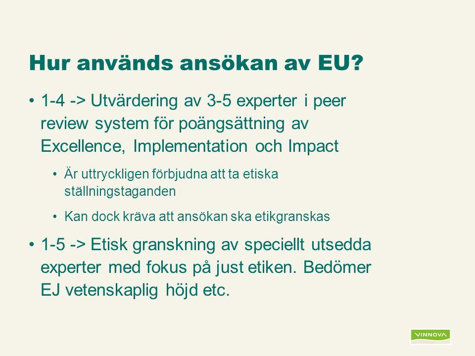 Infogad sidfot, datum och sidnummer syns bara i utskrift (infoga genom fliken Infoga -> Sidhuvud/sidfot) Hur används ansökan av EU.