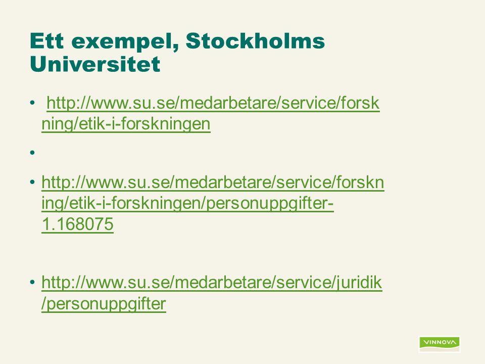 Infogad sidfot, datum och sidnummer syns bara i utskrift (infoga genom fliken Infoga -> Sidhuvud/sidfot) Ett exempel, Stockholms Universitet http://www.su.se/medarbetare/service/forsk ning/etik-i-forskningenhttp://www.su.se/medarbetare/service/forsk ning/etik-i-forskningen http://www.su.se/medarbetare/service/forskn ing/etik-i-forskningen/personuppgifter- 1.168075http://www.su.se/medarbetare/service/forskn ing/etik-i-forskningen/personuppgifter- 1.168075 http://www.su.se/medarbetare/service/juridik /personuppgifterhttp://www.su.se/medarbetare/service/juridik /personuppgifter