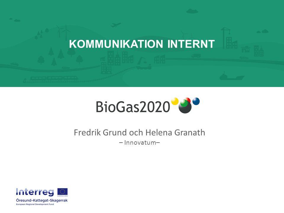KOMMUNIKATION INTERNT Fredrik Grund och Helena Granath – Innovatum–