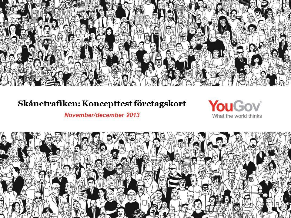 November/december 2013 Skånetrafiken: Koncepttest företagskort