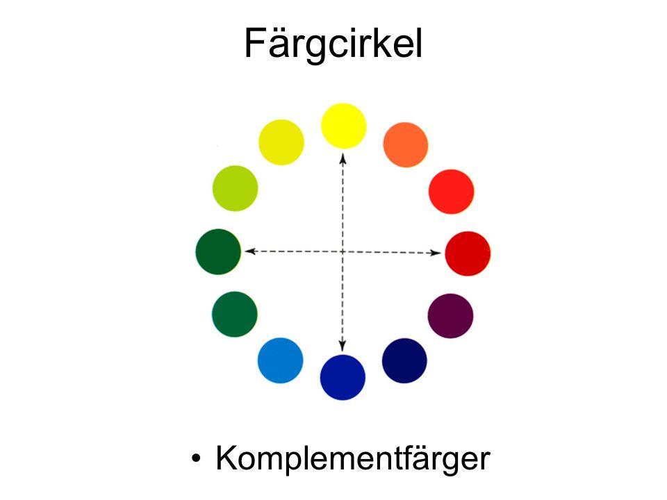 Färgcirkel Komplementfärger