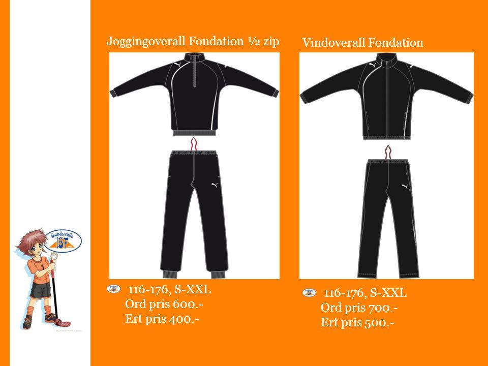 Joggingoverall Fondation ½ zip 116-176, S-XXL Ord pris 600.- Ert pris 400.- 116-176, S-XXL Ord pris 700.- Ert pris 500.- Vindoverall Fondation
