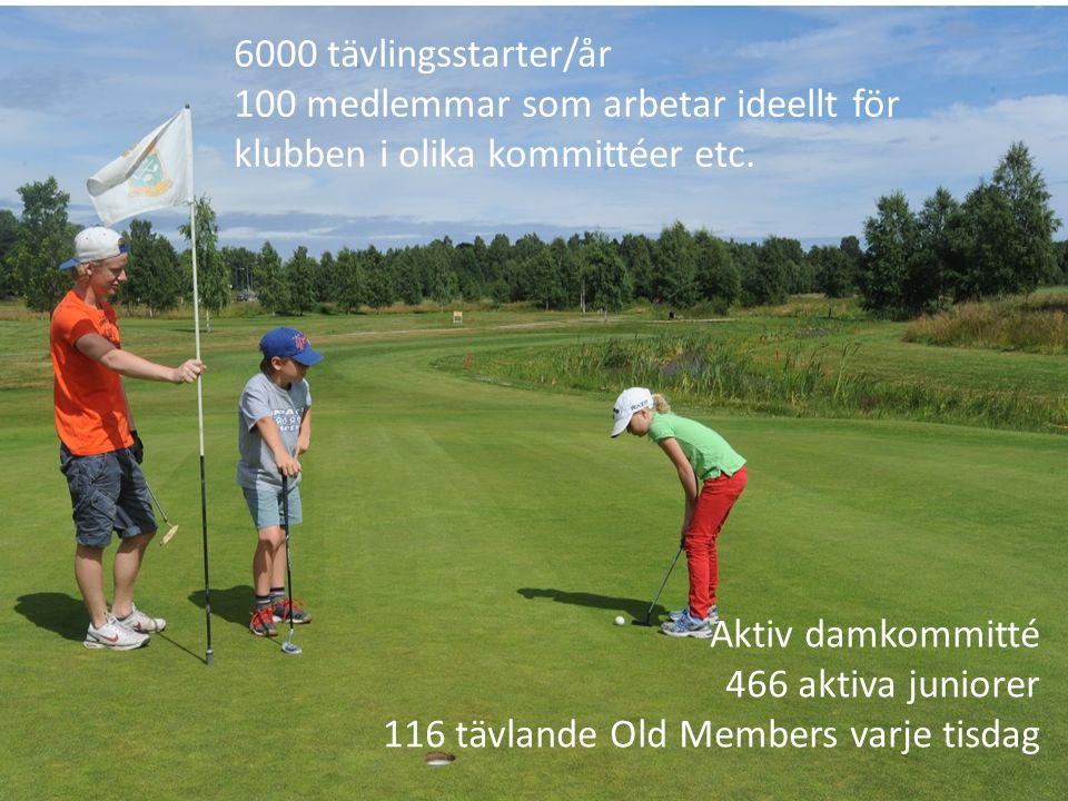 Aktiv damkommitté 466 aktiva juniorer 116 tävlande Old Members varje tisdag 6000 tävlingsstarter/år 100 medlemmar som arbetar ideellt för klubben i olika kommittéer etc.