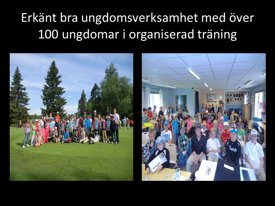 Erkänt bra ungdomsverksamhet med över 100 ungdomar i organiserad träning