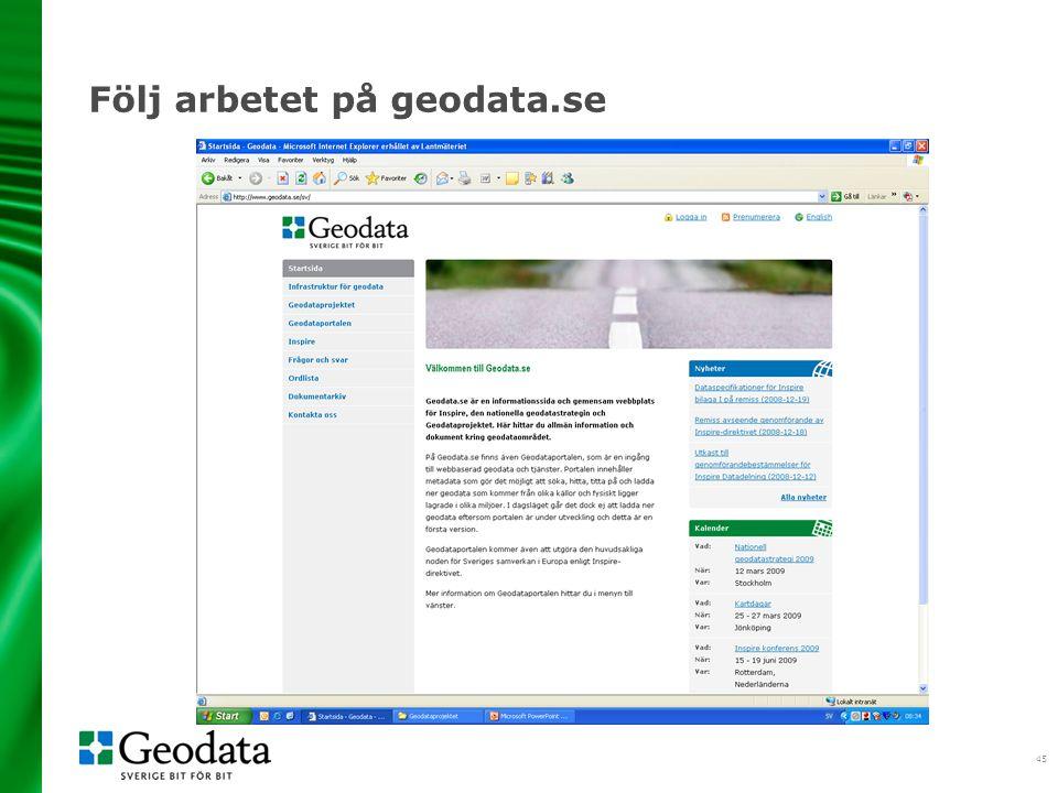45 Följ arbetet på geodata.se