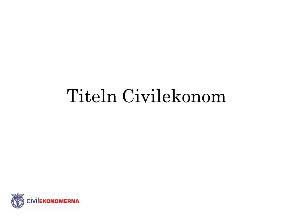 Titeln Civilekonom