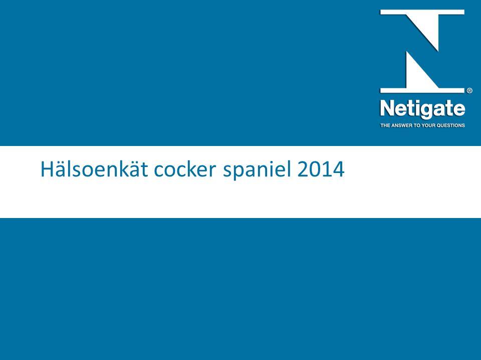 Hälsoenkät cocker spaniel 2014