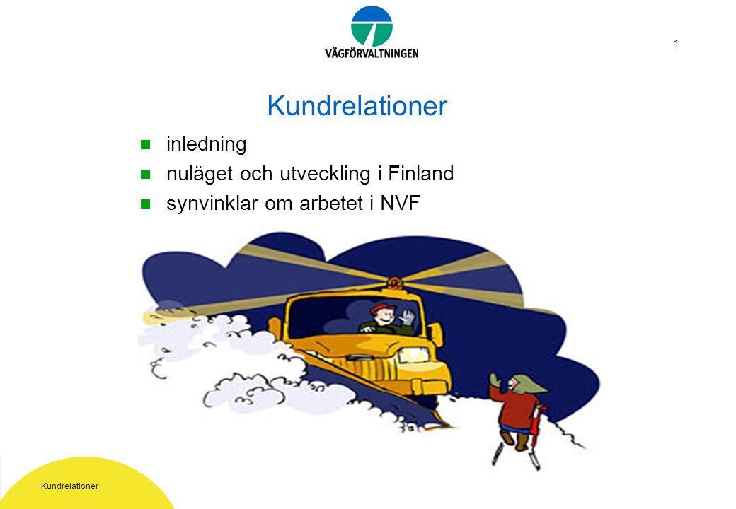 Kundrelationer 1 inledning nuläget och utveckling i Finland synvinklar om arbetet i NVF
