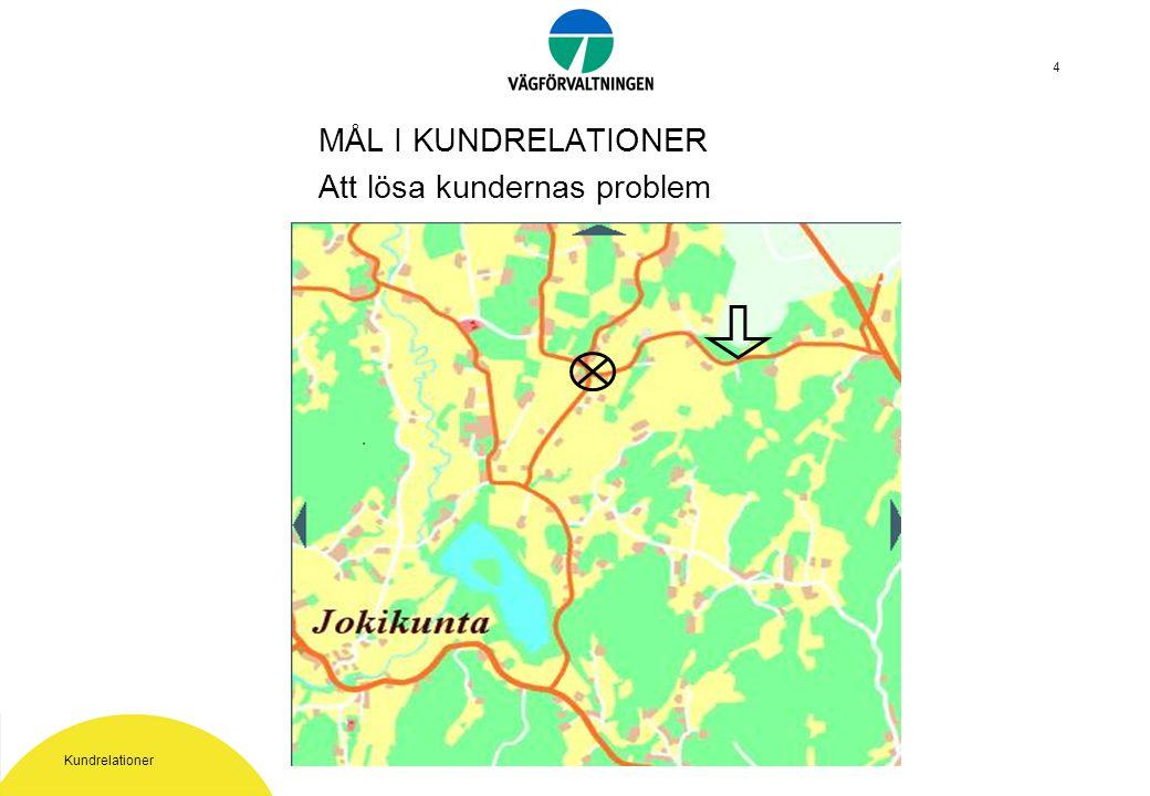 Kundrelationer 5 Nuläget och utveckling i Vägförvaltningen, Finland Kundrelationsstrategi 2002 Segmentering av kunder Utvecklingsområden Kundgruppernas behov -forskningsprogram Servicelöftet Hur syns kundtänkandet i praktiken?