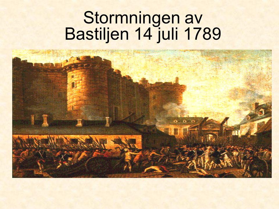 Stormningen av Bastiljen 14 juli 1789