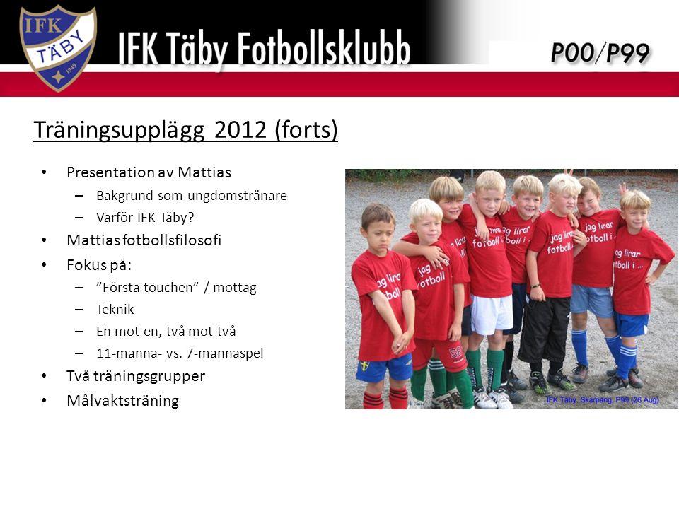 Presentation av Mattias – Bakgrund som ungdomstränare – Varför IFK Täby.