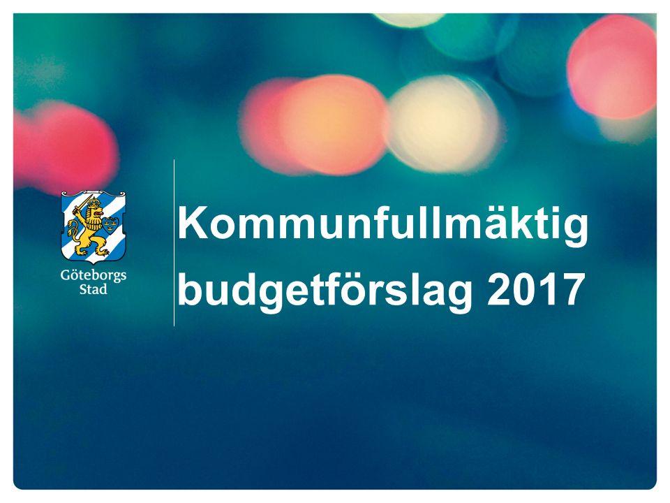 Kommunfullmäktig budgetförslag 2017