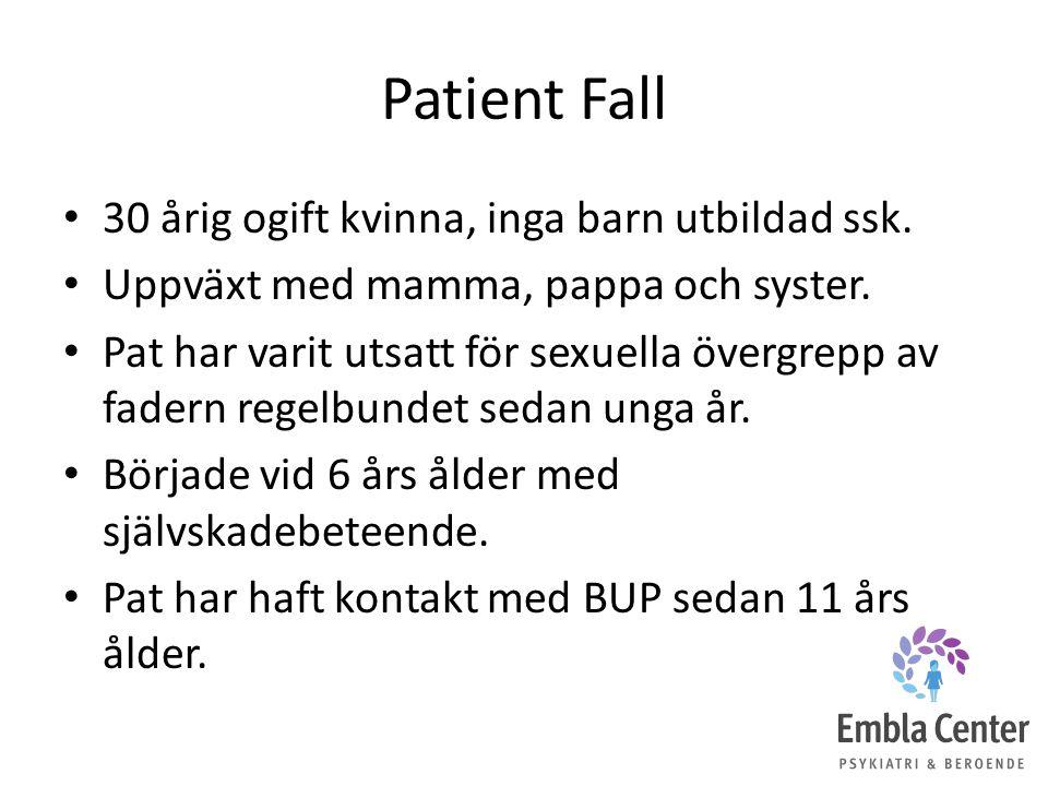 Patient Fall 30 årig ogift kvinna, inga barn utbildad ssk.