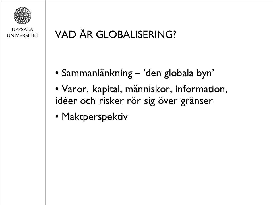 VAD Ä R GLOBALISERING.