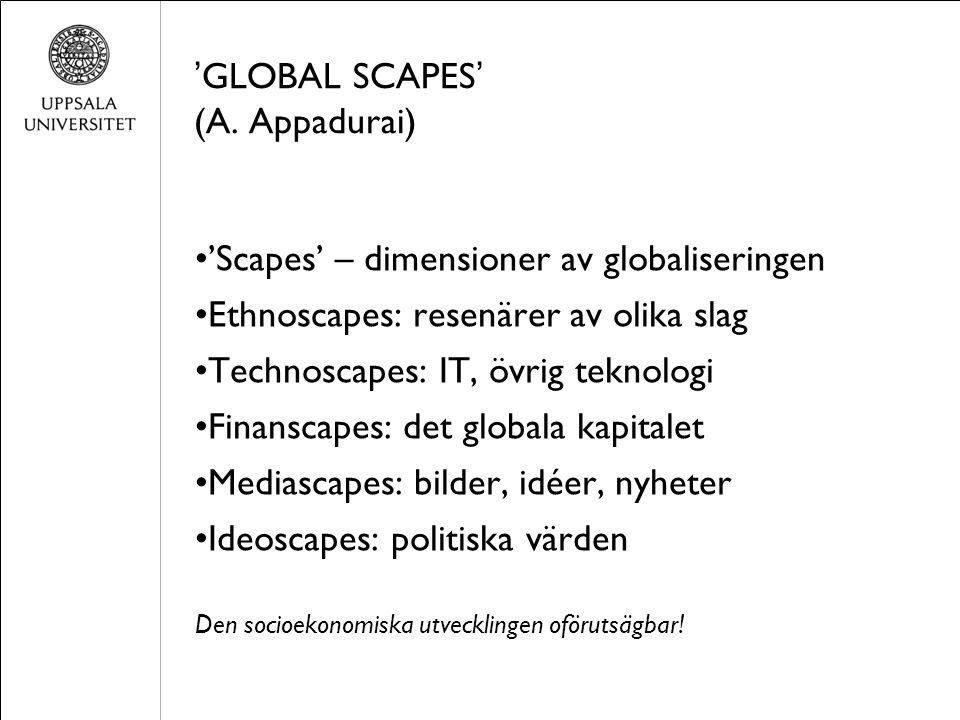 ' GLOBAL SCAPES ' (A.
