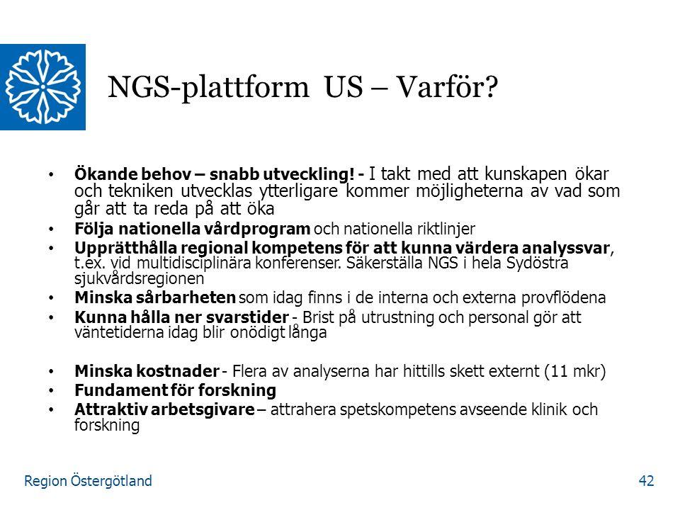 Region Östergötland Ökande behov – snabb utveckling.