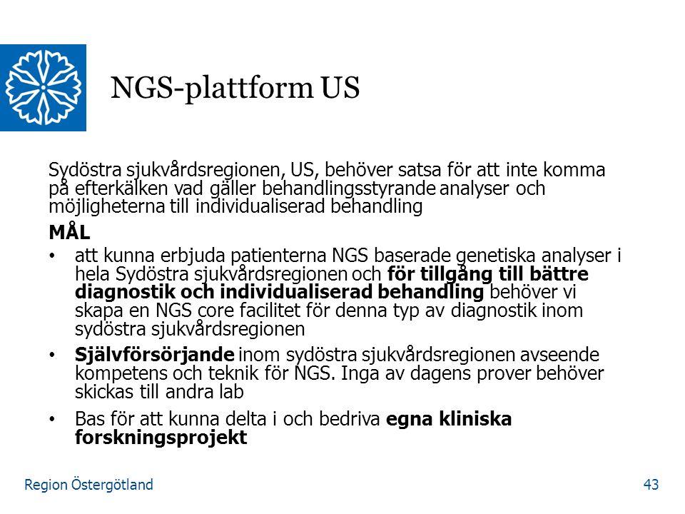 Region Östergötland Sydöstra sjukvårdsregionen, US, behöver satsa för att inte komma på efterkälken vad gäller behandlingsstyrande analyser och möjlig