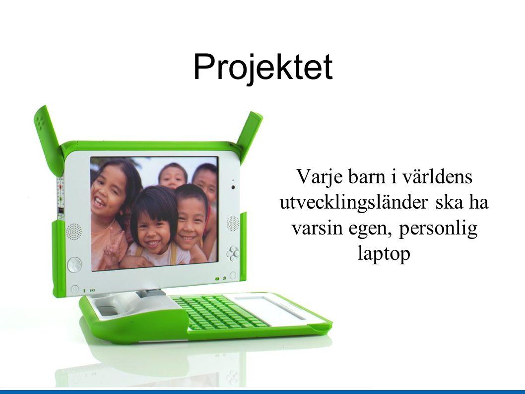 Projektet Varje barn i världens utvecklingsländer ska ha varsin egen, personlig laptop