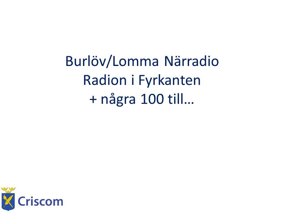 Burlöv/Lomma Närradio Radion i Fyrkanten + några 100 till…