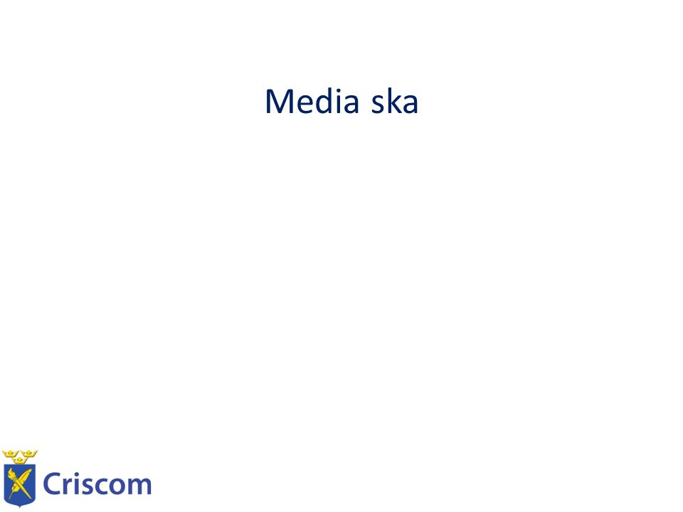 Media ska Informera Kommentera Granska