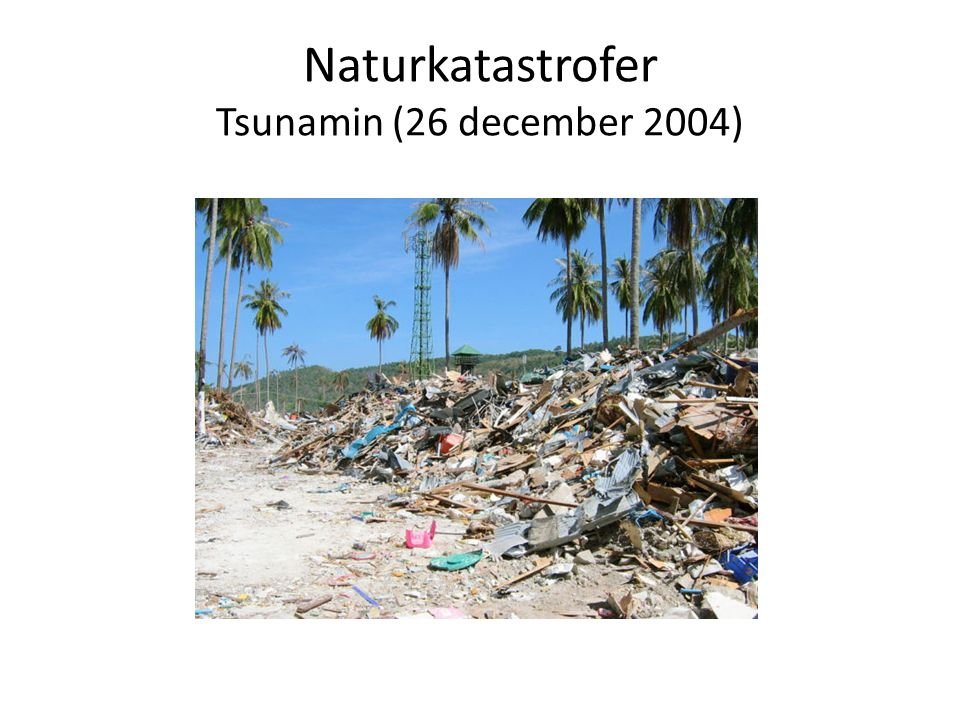 Naturkatastrofer Tsunamin (26 december 2004)
