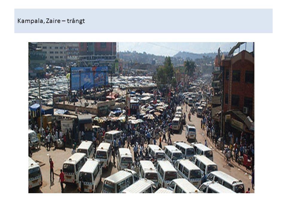 Kampala, Zaire – trångt
