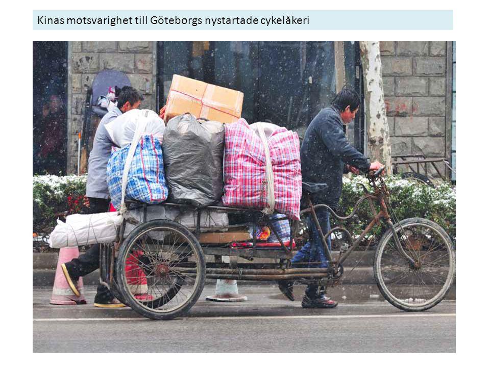 Kinas motsvarighet till Göteborgs nystartade cykelåkeri