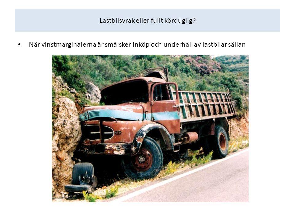 Lastbilsvrak eller fullt körduglig.