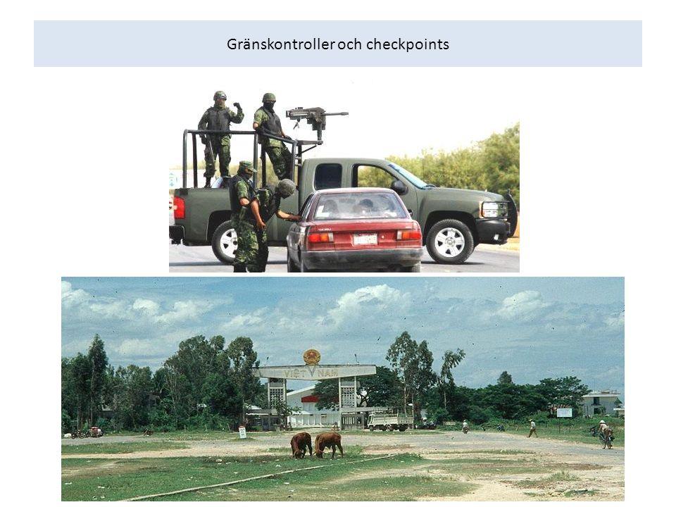 Gränskontroller och checkpoints