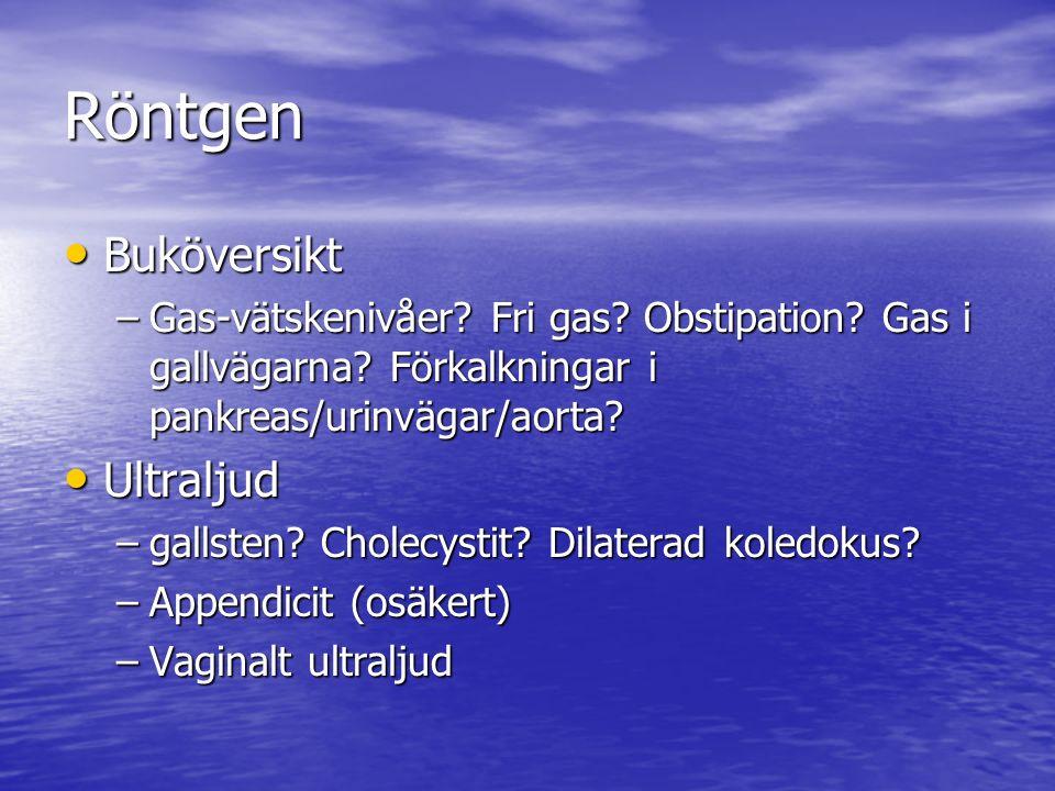 Röntgen Buköversikt Buköversikt –Gas-vätskenivåer.