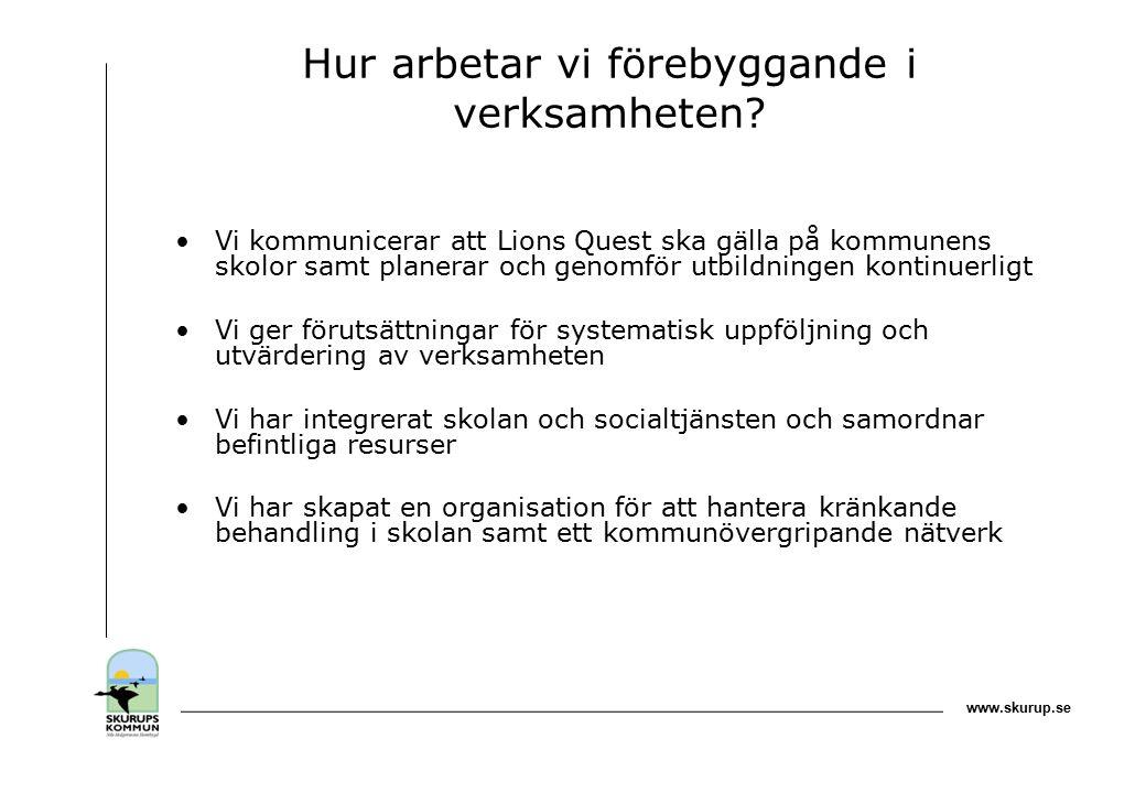 www.skurup.se Hur arbetar vi förebyggande i verksamheten.