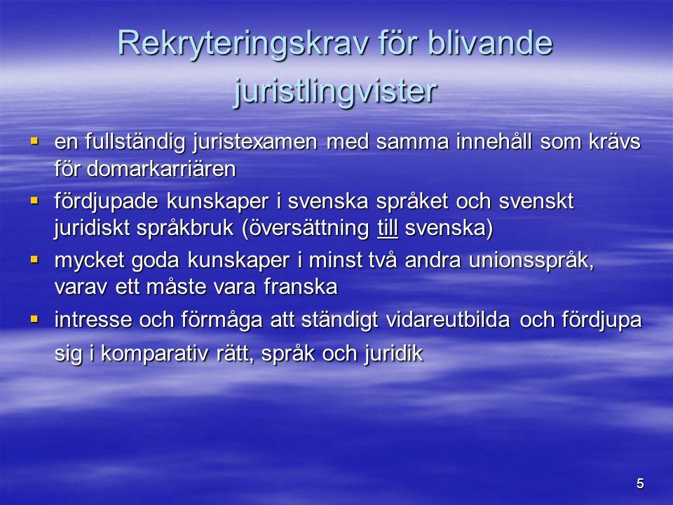 6  Exempel på översättningsuppdrag : Rättegångshandlingar, generaladvokaternas förslag till avgörande, domar och pressmeddelanden Vi översätter till vårt första språk, som på vår enhet är svenska Vi översätter till vårt första språk, som på vår enhet är svenska  I ett svenskt mål – översättning av samtliga handlingar i målet  Översättningen av nationella domstolars begäran om förhandsavgörande - en del av underlaget för den svenska regeringen när den fattar beslut om regeringen ska yttra sig i målet eller inte en del av underlaget för den svenska regeringen när den fattar beslut om regeringen ska yttra sig i målet eller inte  Generaladvokaternas förslag – vägledning för hur unionsrätten ska tillämpas och tolkas.