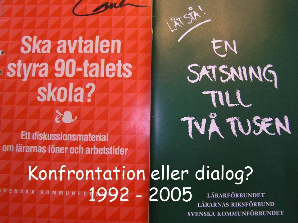 Konfrontation eller dialog? 1992 - 2005