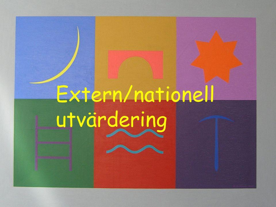Extern/nationell utvärdering