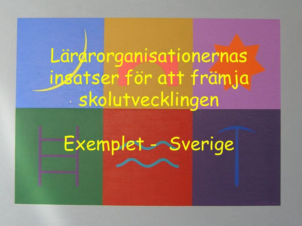 Lärarorganisationernas insatser för att främja skolutvecklingen Exemplet - Sverige