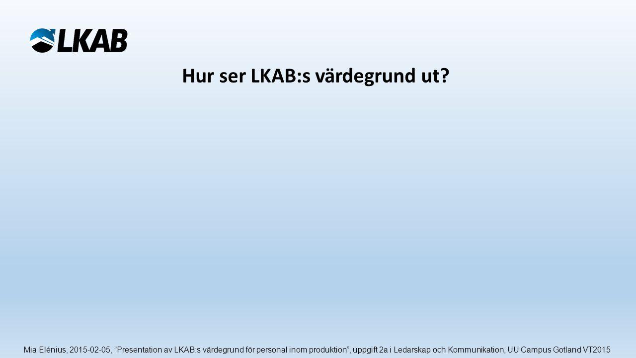 Hur ser LKAB:s värdegrund ut.